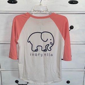 Ivory Ella Baseball Tee Shirt~Size S~